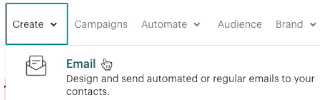 Create an email (Mailchimp)