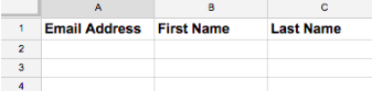 Create CSV pSreadsheet to Import