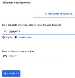Start with keywords (Google Keyword Planner)