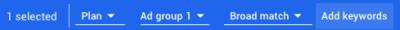 Google Keyword Planner - Plan - Add Keywords