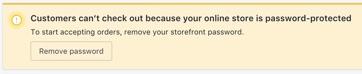 Remove website (store) password