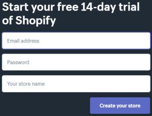Shopify 14 Days Trial