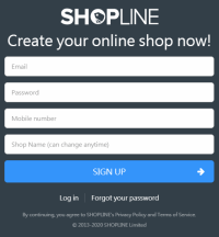 Shopline Website New Sign-up Free Trial 30 Days