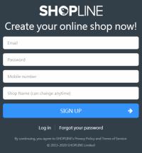 Shopline Website New Sign-up Free Trial 30 Days